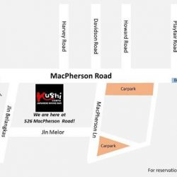 [Kushi Dining Bar] Dear customers, just to share some information: there is free parking along Macpherson Road everyday after 5pm and on Sunday.