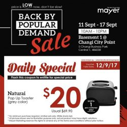[MAYER] Daily FLASH DEALS Day 02 Just simply like our Mayer Facebook page and Flash it to our staff and your