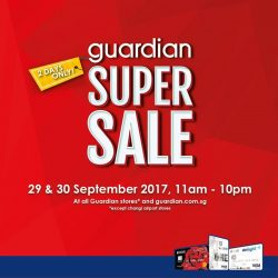 [UOB ATM] Guardian Super Sale is here again – now for 2 Days!