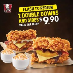 [KFC Singapore] Get your hands on the Double Down while you still can!