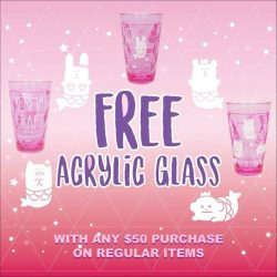 [Craftholic Singapore] Free Pink Mermaid Acrylic Glass - Spent $50 on regular item(s) and get a dreamy misty Craftholic glass.