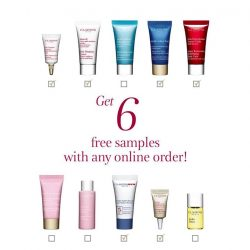 [Clarins] Get free shipping + 6 samples with any online order!