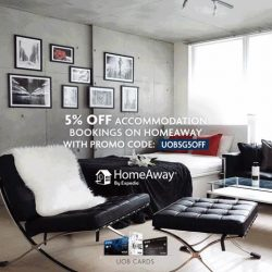 [UOB ATM] Book your dream holiday accommodation now on HomeAway with your UOB Card and get 5% off!