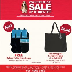 [Hush Puppies Apparel] Sale starts on 21st September!