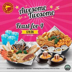 [The Manhattan FISH MARKET Singapore] You and your best buddy make an awesome twosome!