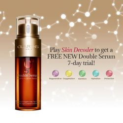 [Clarins] Discover how NEW Double Serum decodes the language of youthful skin and stimulates the skin's 5 vital functions with