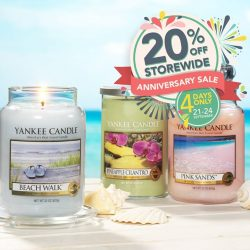 [Yankee Candle] Grab all your favourite scents, for the next 4 days we are giving 20% OFF Storewide.