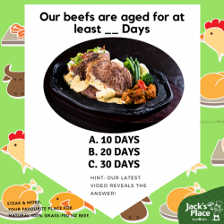 [Jack's Place] Getting our beef straight from the farms in New Zealand is the first step to ensure we deliver you the