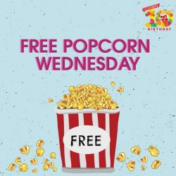[Golden Village] Life doesn't get any butter than this: FREE popcorn 🍿 every Wednesday exclusively for GV Movie Club® members!