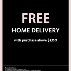 [ColdWear] We are now offering FREE home delivery service when you purchase above $500 in our retail stores!
