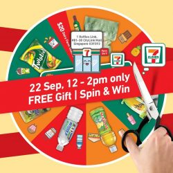 [7-Eleven Singapore] Come on down to CityLink Mall during your lunch break to get exclusive deals and Spin & Win when you spend