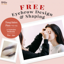 [BROW ART ASIA] Brow Art Asia is giving FREE Eyebrow Design and Shaping on 20 September 2017, Wednesday.