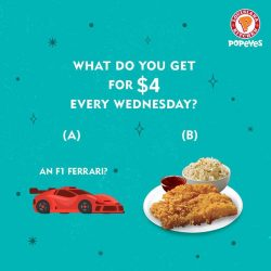 [Popeyes Louisiana Kitchen Singapore] Don't let our Wednesday Deal zoom past you!