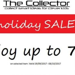 [The Collector] Join us for our pre-holiday sale up to 70% from now till 8th Oct 2017.