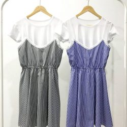 [SNAPSTYLE] CHECK SET DRESS SGD 29.