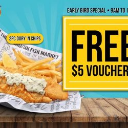 [The Manhattan FISH MARKET Singapore] Did you know there are 3 sessions for our Early Bird Treat giveaways?
