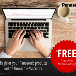 [Panasonic] Don't miss out on the chance to get an additional three months of warranty on your Panasonic products for