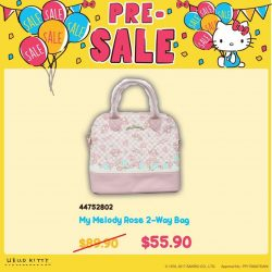 [Sanrio Gift Gate] Annual Sale Special Buy: My Melody Rose 2-Way Bag at only $55.