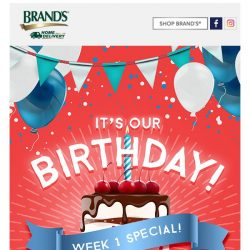 [Brand's] ✨READY FOR OUR WEEK 1 BIRTHDAY BASH GIVEAWAY?✨GET YOURS NOW!