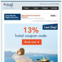 [Zuji] The hotel deals you've been waiting for + 13% off!