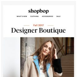 [Shopbop] The 4 designers everyone's talking about
