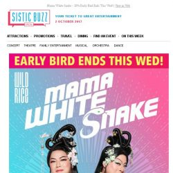 [SISTIC] Mama White Snake - 20% Early Bird Ends This Wed!