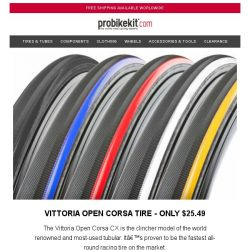 [probikekit] Vittoria Open Corsa Tire for only $25.49
