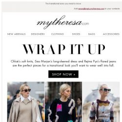 [mytheresa] Layer up for fall with Valentino, Peter Pilotto, Chloé...