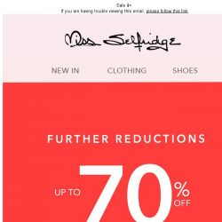 [Miss Selfridge] Further reductions! Up to 70% off 🔥