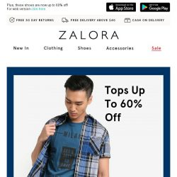 [Zalora] These tops are now on SALE: Up to 60% off!