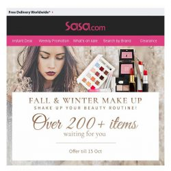 [SaSa ] 【Fall & Winter Make Up】Over 200+ items waiting for you!
