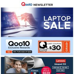 [Qoo10] Qoo10 Thursday Laptop Sale! All Types of Laptop For Your Everyday Needs! Newly Launch GoPro Hero 6! Get It Now!