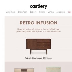 [Castlery] Gaga over retro? Get the look with these discounted items!