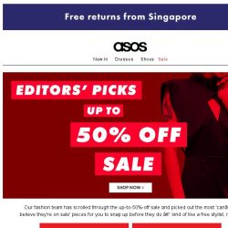 [ASOS] Up to 50% off: the editors' choice