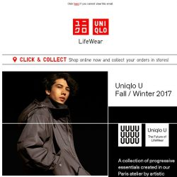 [UNIQLO Singapore] New Uniqlo U collection by Christophe Lemaire.