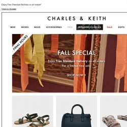 [Charles & Keith] FALL SPECIAL | Final Hours
