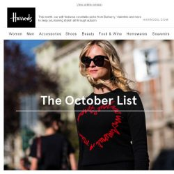 [Harrods] How To Ace Your Autumn Wardrobe…