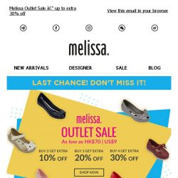 [Mdreams] Now up to extra 30% off outlet sale