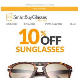 [SmartBuyGlasses] 10% Off Topseller Sunglasses - exclusive code inside - 24 hours only 😎