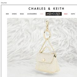 [Charles & Keith] GOLD SPARKLES | Exclusive Gift for You