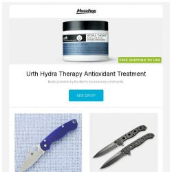 [Massdrop] Urth Hydra Therapy Antioxidant Treatment, Spyderco Para Military 2: G-10 / S110V, CRKT M16-01 Series Knives and more...