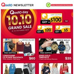 [Qoo10] QOO10 DAY FLASH PRICES! Longchamp Bag at $60 and Kinohimitshu Collagen at $188! LIMITED QTY!
