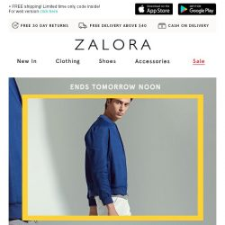 [Zalora] Last Call: EXTRA 18% off sitewide + up to 60% off!