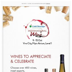 [Cold Storage]  Ignite Your Love For Wine At Cold Storage's International Wine Fair @ Vivo City!