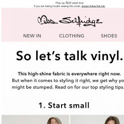[Miss Selfridge] How to wear vinyl NOW