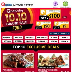 [Qoo10] 10.10 Delicious FOOD! Grab Kim Choo Dumplings & Other Ready To Eat Meals From $3.90!
