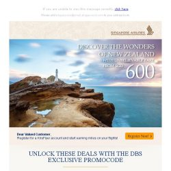 [Singapore Airlines] Amazing fares to New Zealand from SGD600!