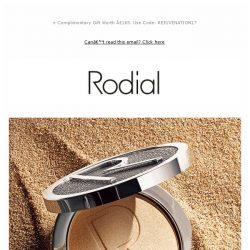 [RODIAL] NEW Highlighting Gold Powder For A Candlelit Glow