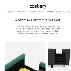 [Castlery] Need more space? Discover our range of storage beds.