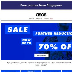 [ASOS] Now up to 70% off